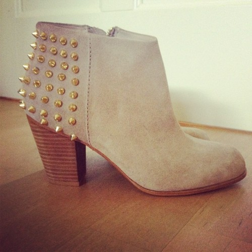 My new babies! ;) #boots #zara #studs (Taken with Instagram)