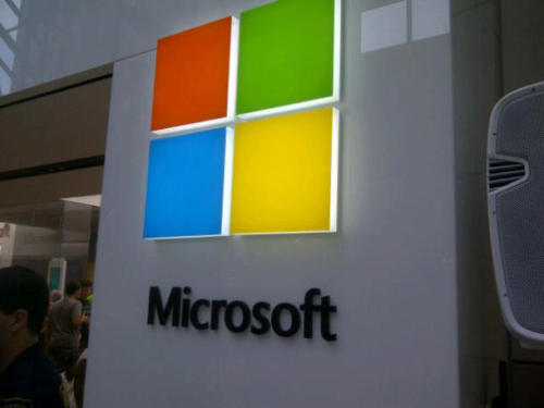 Microsoft squares off with new logo