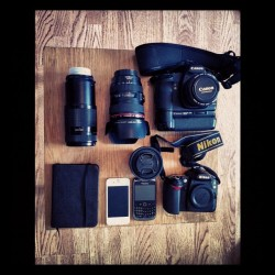 Today Gear southampton#photo #photography #cameras#iphone#50mm#nikon#canon#lens#blackberry and of course #notebook (Taken with Instagram)