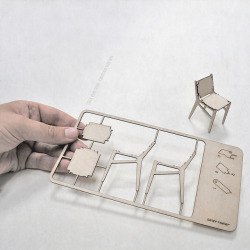 seier+seier plywood chair christmas card