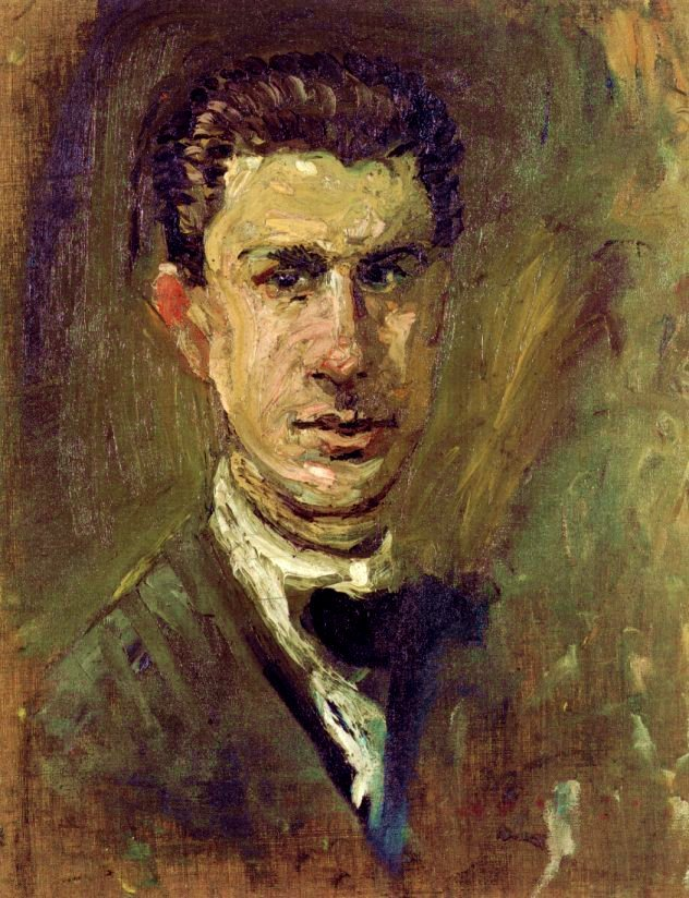Richard Gerstl, Small Self-portrait - Winter 1907/8
