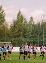 Arsenal training ahead of Stoke