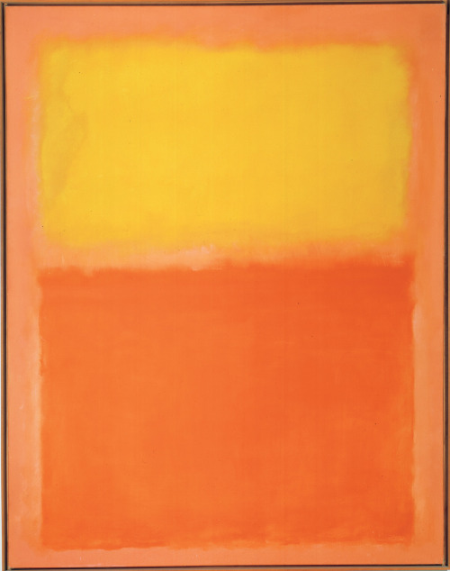 "Docent Stories: Mary TherrienFifth Graders Respond to Mark Rothko's Orange and Yellow In honor of our first Art'scool tour of the season today, here's a favorite story from our docent Mary Therrien: I led a group of fifth graders to Mark Rothko's Orange and Yellow, 1956, and asked, ""Would anyone want this painting in their bedroom?"" A boy's hand shot up, and he said, ""Yes!"" ""Why?"" I asked. ""Because I see a pillow (yellow) and a blanket (orange)."" Then, a second boy's hand went up, and he said, ""Me too!"" ""Why?"" I asked. ""I want it directly across from my bed. When I wake up in the morning, I'll see a sunrise (yellow), and when I go to bed at night, I'll see a sunset (orange).""  Image: © 1998 Kate Rothko Prizel & Christopher Rothko / Artists Rights Society (ARS), New York"
