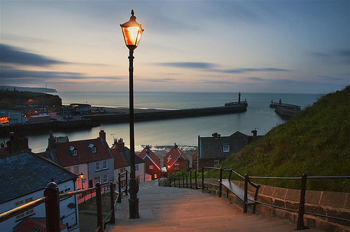 bluepueblo:  Down to the Sea, Whitby, England photo via under