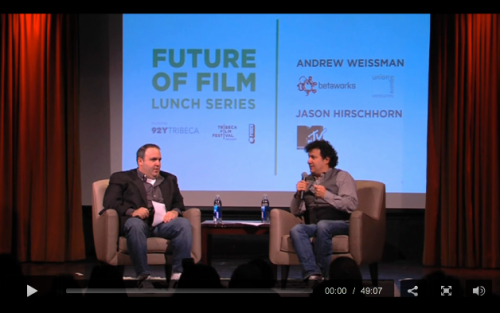 In this Future of Film talk from April 26, Andrew Weissman (Union Square Ventures) and Jason Hirschhorn (Media ReDEFined) discuss the multitude of innovative tools available to filmmakers in this brave new (internet and social) world.