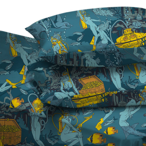 "meowgon:  Fab.com Pop-Up Shop: Pearl Divers Atlantic Twin XL @vicemerchants on Fab.Fab.com just what i need, underwater lesbian bedsheets  I actually DO need this!!! This is so up my alley! So far up my alley, it had to take my alley to dinner first. At a nice restaurant, with, like, tablecloths and shit. And my alley was like, ""You didn't need to take me to dinner, I was into it anyway,"" but my alley was pretty happy about the nice meal. (It got the salmon.)"