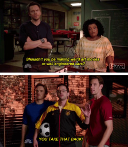 community-overdose:  I love how jeff's complisults made it into season three as wellClick for the best Community tumblr ever.