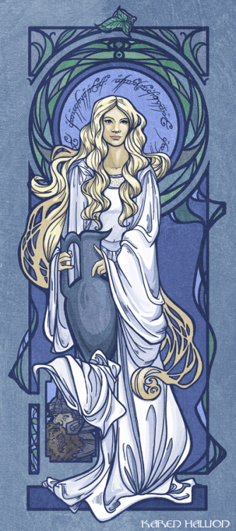 karenhallion:  Galadriel is now available on Steal This Art! Only 100 avaliable, for 30$. https://www.stealthisart.com/