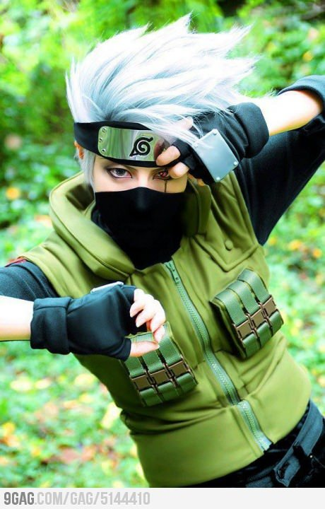9gag:  Awesome Kakashi Cosplay