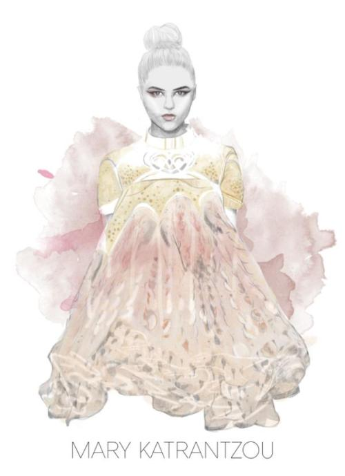 Ive entered Mary Katrantzous illustration competiton as i ADORE her work, the illustration with the most likes gets a ticket to her show, which i would love to go to! so, please take a second and like my illustration? a reblog would also be lovely :)  VOTE