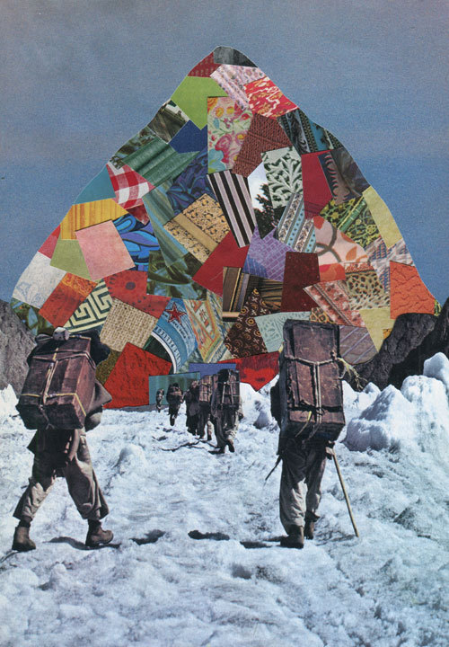 The Climb. (Handmade Collage) Prints available here.
