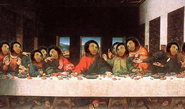 "What ""The Last Supper"" would look like if it were restored by Cecilia Gimenez"
