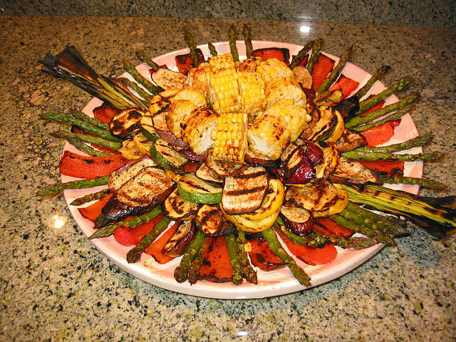 Grilled Veggie Sunburst by veganbean on Flickr.
