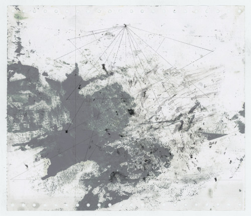 robertocalbucci:    Astratto +/- E oil, ink and pencil  on paper. 2012