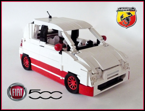2012 Fiat 500 Abarth by Lino M on Flickr.Super cute LEGO Fiat by Lino M.