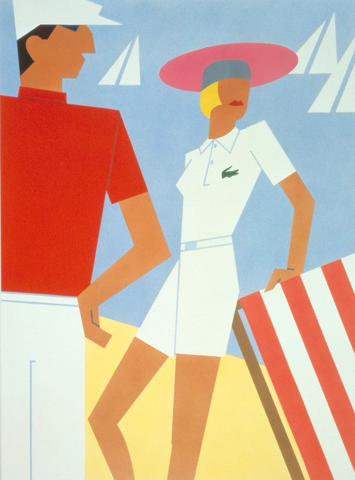 lacoste:  Vintage poster for the Lacoste 55th anniversary (1933-1988) - 1988