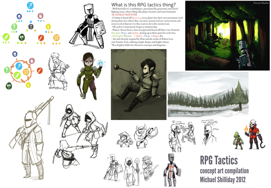 compiled set of all the canceled RPG tactics concept art I didproject was canned after I left the group.high-res can be viewed here