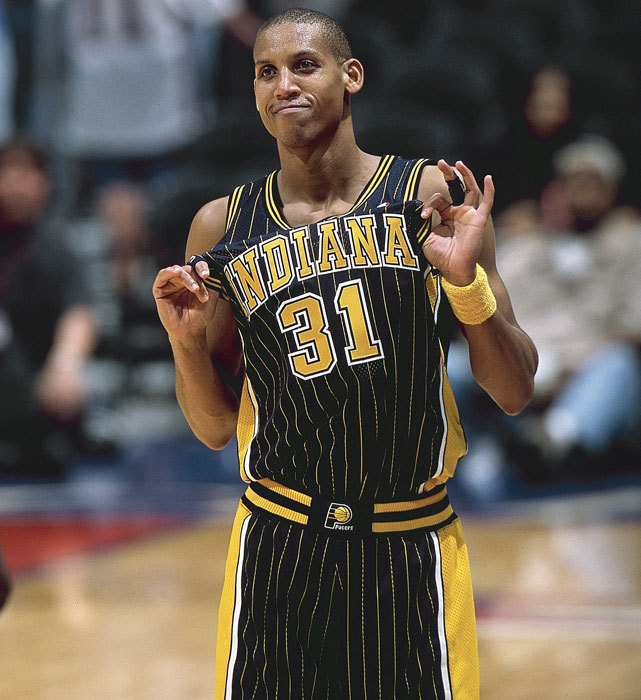Reggie Miller celebrates his 47th birthday on Friday. The longtime Pacer played 18 seasons in Indiana, averaging 18 points per game. He made five NBA All-Star teams, won a gold medal in 1996 and retired as the all-time three-point shot leader, a record later broken by Ray Allen. (John W. McDonough/SI) GALLERY: Classic Photos of Reggie Miller