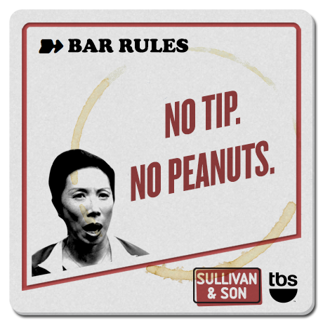 No tip. No peanuts.  #SullivanandSon on TBS - New Series Thursdays at 10/9c