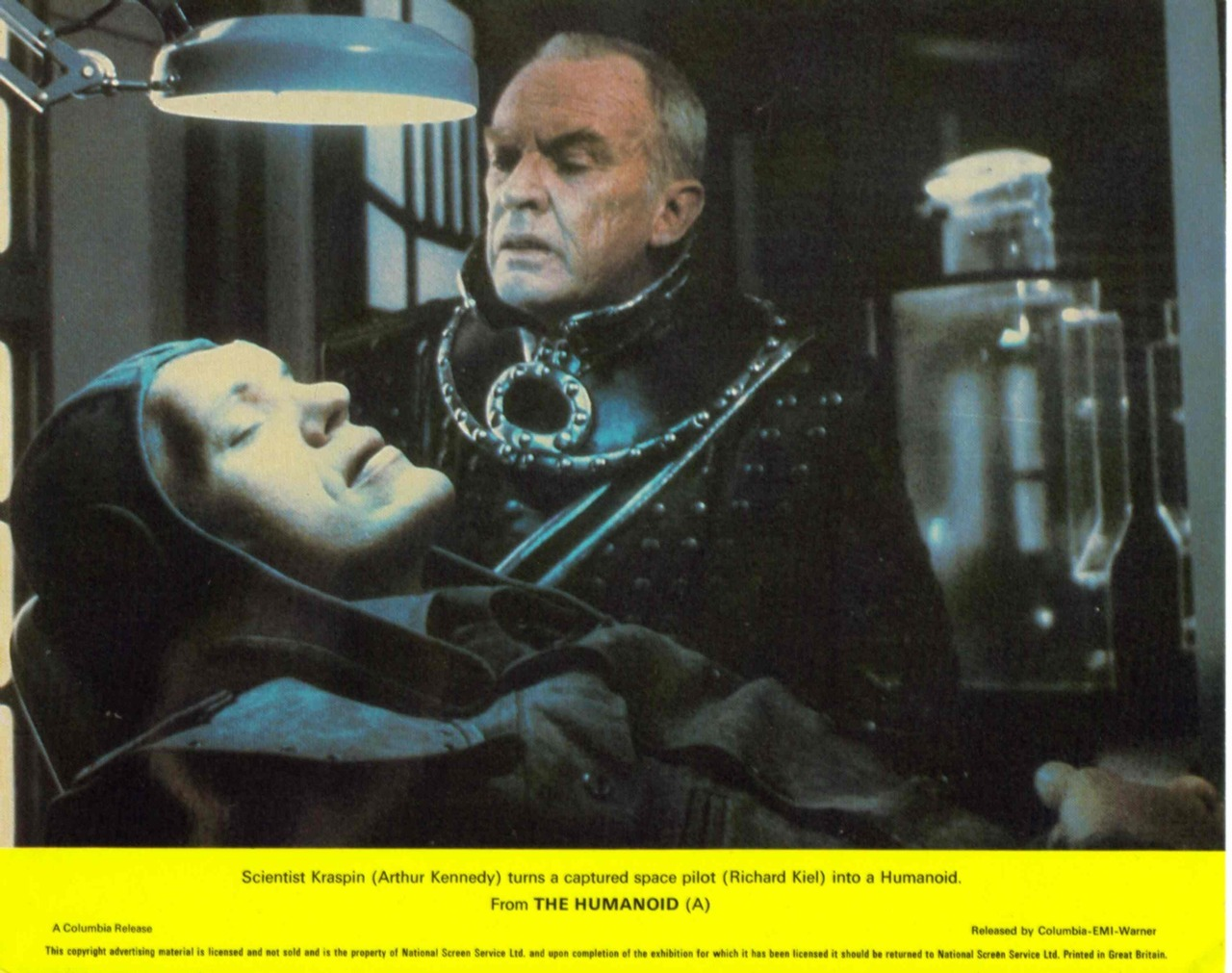 The Humanoid, British lobby card. 1979