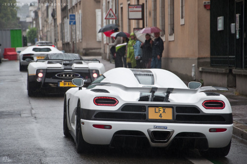 Awesome Threesome Starring: Koenigsegg Agera, Pagani Zonda PS and Lamborghini Aventador (BY BenjiAuto (Ratet B. Photographie))