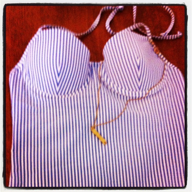 xojaneuk:  Wheee! Best Post Ever - @jcrew bathing suit & lovely gold chip fork necklace from @tattydevine - thankyou ladies!xx (Taken with Instagram)