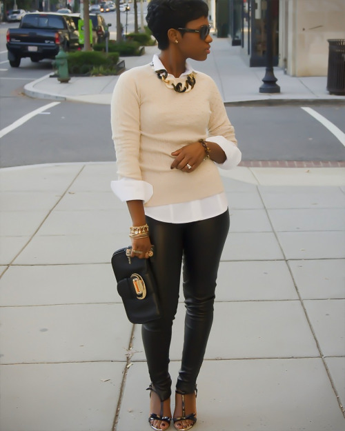 ahamoments:  The whole top half of this outfit. I love it. And the clutch
