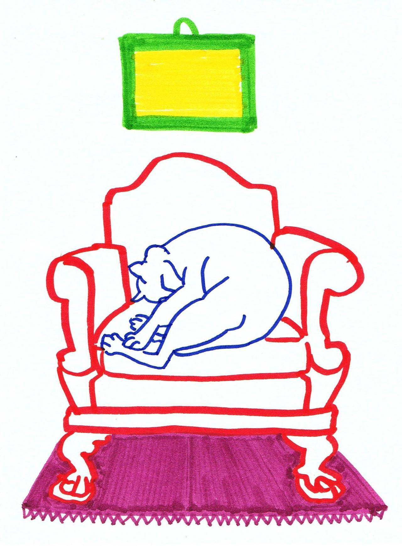 sleepy cat & chair (II.)