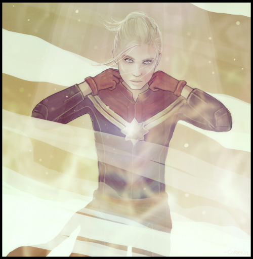 geeked101:  Captain Marvel (Carol Danvers) (Art by Corran Brownlee)