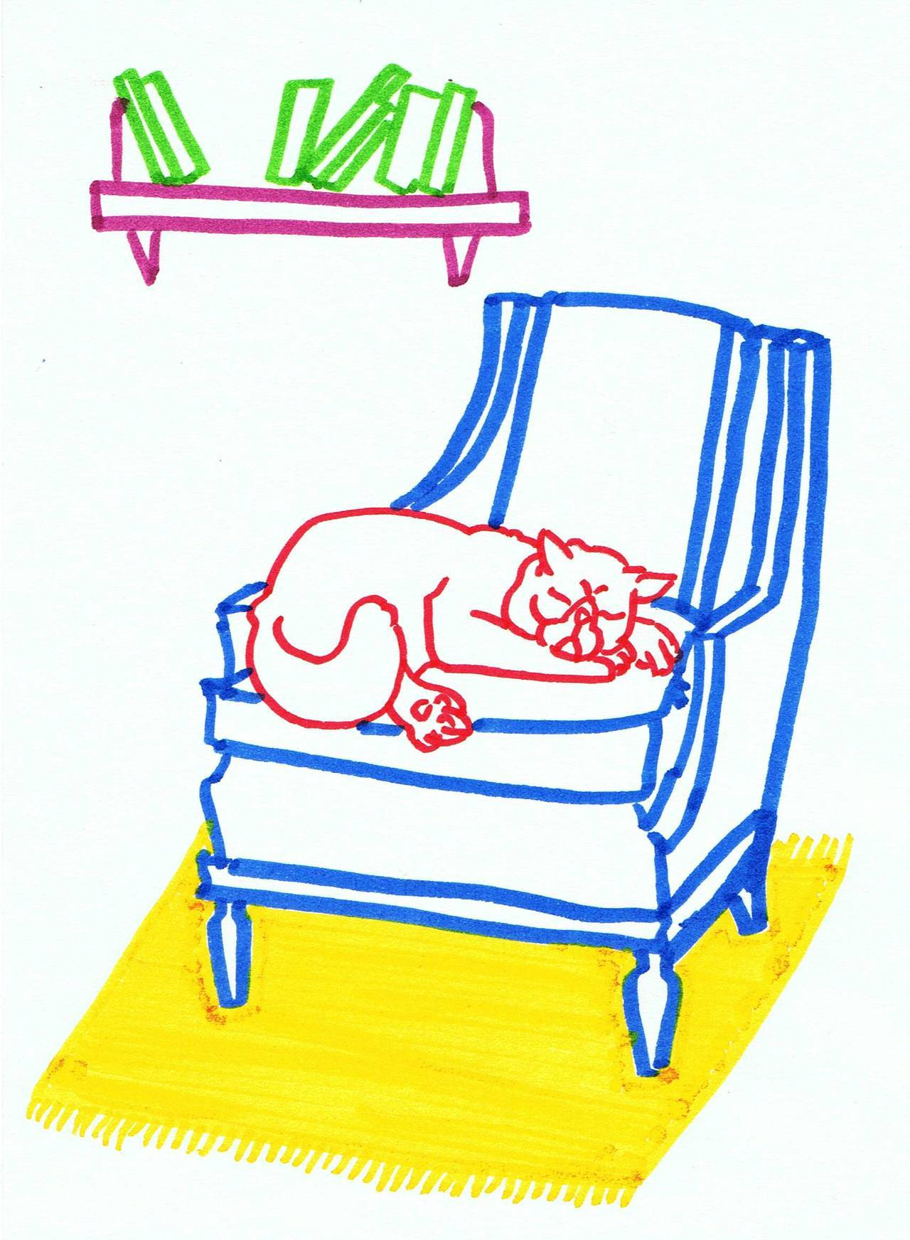 sleepy cat & chair (III.)