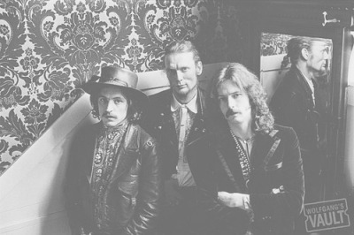 Cream in the Sausalito Hotel stairwell, 1967. Jack Bruce, Ginger Baker, and Eric Clapton in one of their first photos taken in the United States.