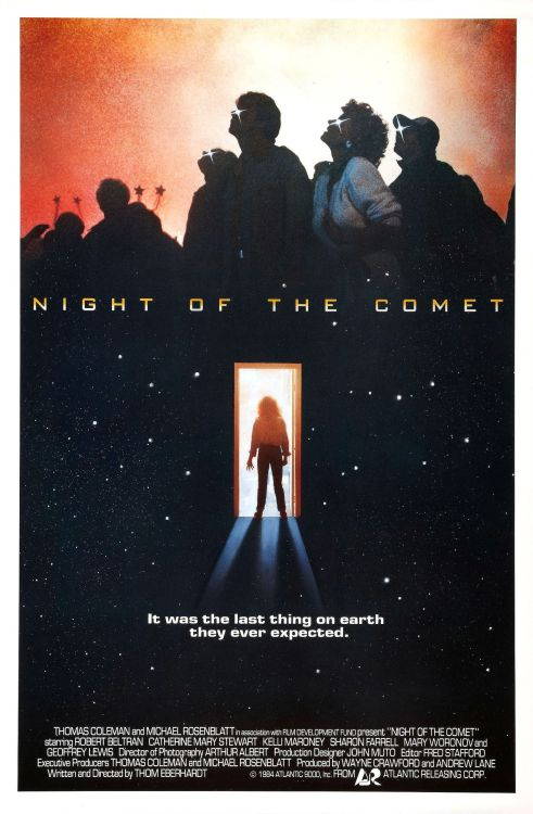 Night of the Comet. Watch this movie, you won't regret it. Bonus, it has a young Robert Beltran (Chakotay from Star Trek Voyager).