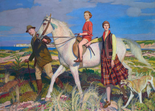 george spencer watson four loves i found, a woman, a child, a horse and a hound, 1922