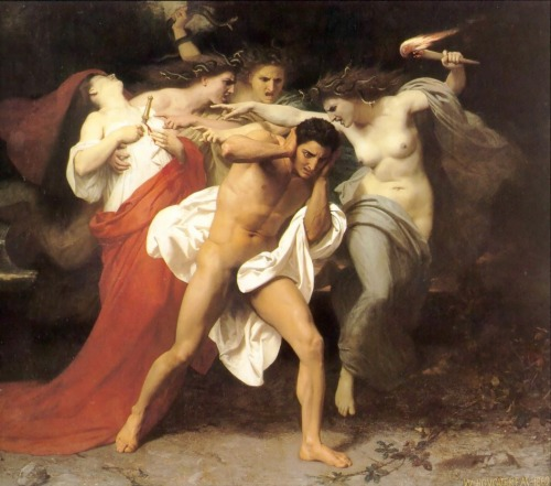 rosenfae:  Orestes Pursued by the Furies, William-Adolphe Bouguereau (c.1862)