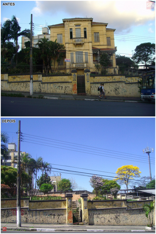 Old Mansion at Voluntarios da Patria Street demolished in 2009 (Sao Paulo/Brazil). See more photos here: http://www.saopauloantiga.com.br/casarao-voluntariosdapatria3346/