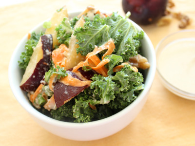 Kale, Walnut and Plum Salad with recipe (link)