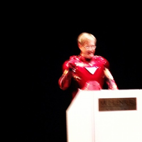 heseesthemeidont:  This is my college's president! #rockon! (Taken with Instagram at Empie Theater)