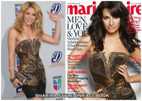 Who wore better? - Roberto Cavalli Pre-Fall 2010 Collection dress  Shakira vs Lea Michele  VOTE HERE  visit & like Shakira style on Facebook