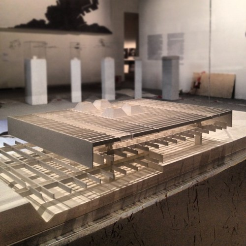 Another model at the Paulo Mendes da Rocha upcoming exhibit at #labiennale cc @ArchDailyBR (Taken with Instagram)