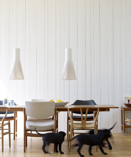 fromscandinaviawithlove:  A home in Sweden. Styling by Anna Sandgren and photo by Marcus Lawett.
