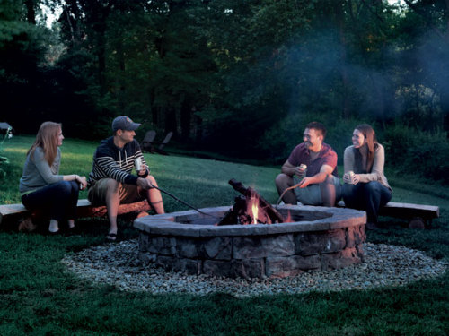 popmech:  Weekend project! Built a rustic backyard fire pit. It'll be fall before you know it.