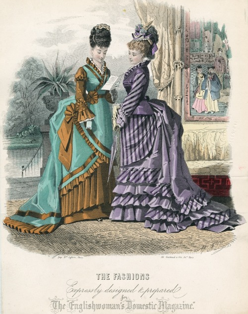 June fashions, 1874 England, The Englishwoman's Domestic Magazine