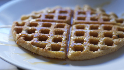 Recipe: Homemade Waffles (Gluten, Dairy and Egg-free)Crunchy on the outside and chewy in the inside, these waffles are a great option for those with allergies.