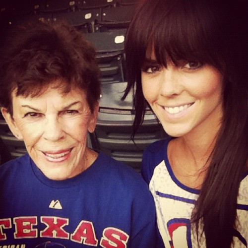 I'm glad my grandmother got to come along with my dad and I to the Rangers game last night! (Taken with Instagram)