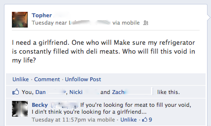 I need a girlfriend…[fb]