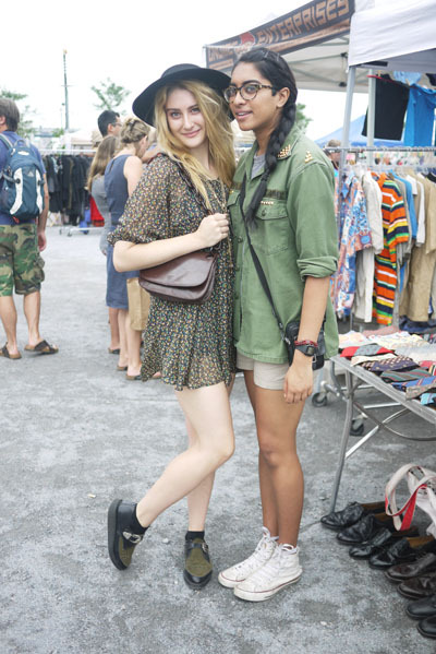 For 10 more good weekend outfit ideas (as seen at the Williamsburg flea last Sunday), head on over to the Glamour mothership.