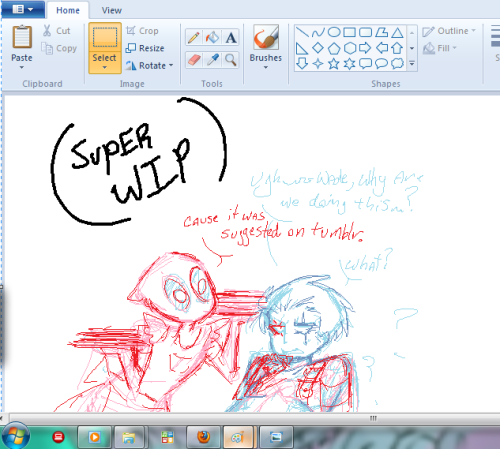 Hey~! Just to prove that I am TRYING to draw something….here's a SUPER WIP of what I'm kinda trying to work on now….I gotta leave now though so….hopefully I won't be too tired to finish it tonight….but don't get your hopes too high….also idk if this is even the sketch I'm gonna use for it…but you get the basic idea behind what I'm doing….right?