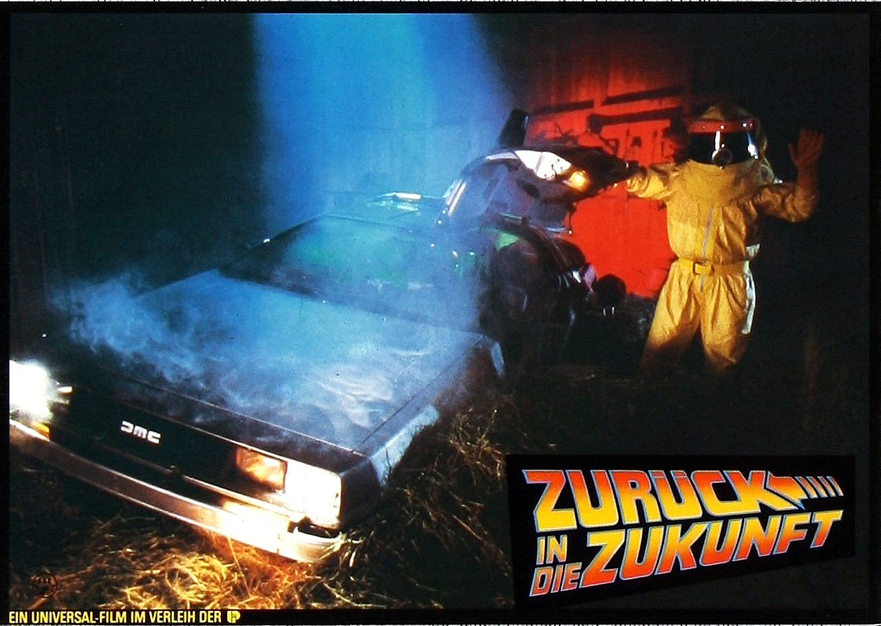 Back to the Future, German lobby card. 1985