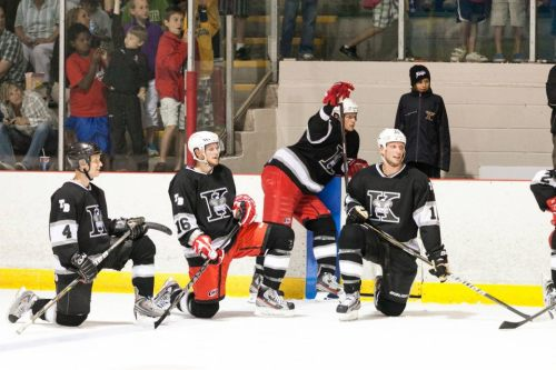 itsstaalgood:  2012 Thunder Bay Kings Alumni Game  Eric, you so sassy.