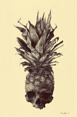 High Art Pineapple Skull